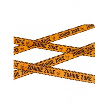 Zombie Zone Caution Tape Fancy Dress Accessory