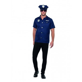 US Cop Costume Fancy Dress