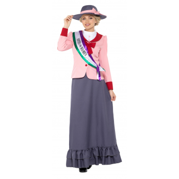 Deluxe Victorian Suffragette Costume Fancy Dress