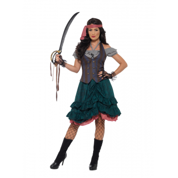 Deluxe Pirate Wench Costume Fancy Dress