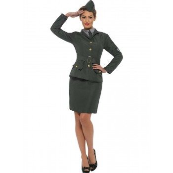 WW2 Army Girl Costume Fancy Dress