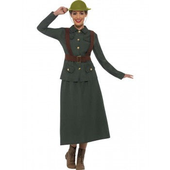 WW2 Army Warden Lady Costume Fancy Dress