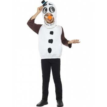 Snowman Costume, with Tabard, Carrot Nose Fancy Dress