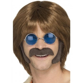 Hippie Disguise Set Brown Fancy Dress Accessory