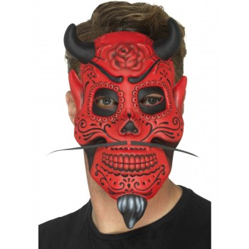 Day of the Dead Devil Mask, Adult Fancy Dress Accessory