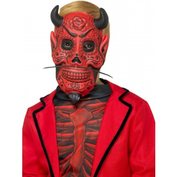 Day of the Dead Devil Mask, Childs Fancy Dress Accessory
