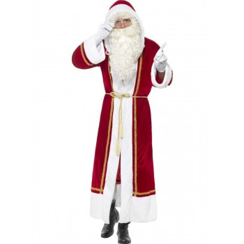 Deluxe Santa Cloak Fancy Dress Costume