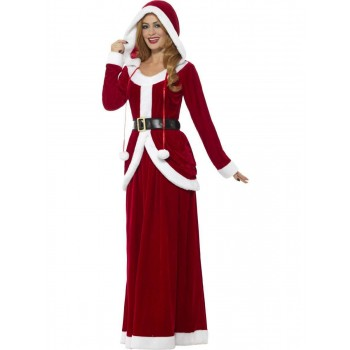 Deluxe Ms Claus Costume Fancy Dress