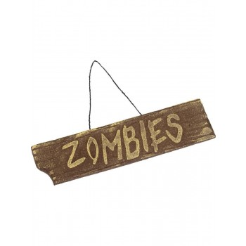 Hanging Zombies Sign Fancy Dress Accessory