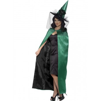 Deluxe Reversible Witch Cape Fancy Dress Costume