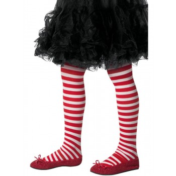 Striped Tights, Age 8-12 Childs Fancy Dress Accessory