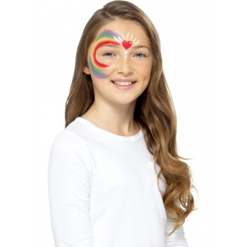 Kids Rainbow Make Up Kit, Aqua Fancy Dress Accessory