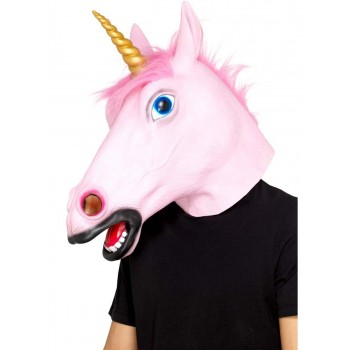 Unicorn Latex Mask Fancy Dress Accessory