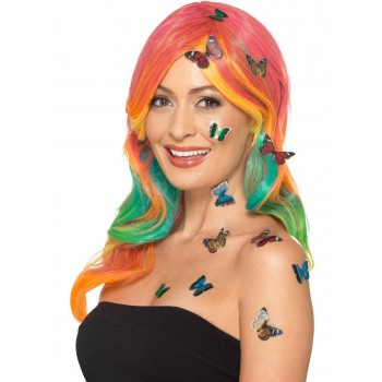 Butterfly 3D Sticker Set Fancy Dress Accessory