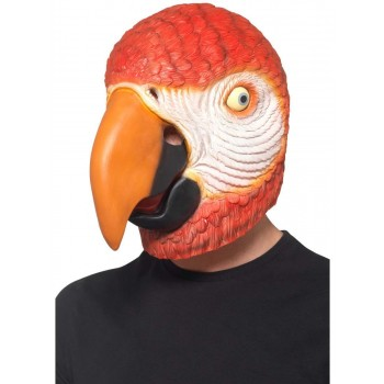 Parrot Latex Mask Fancy Dress Accessory