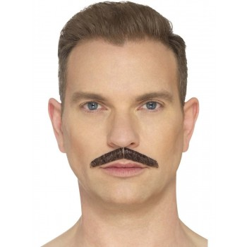 The Pencil Moustache Brown Fancy Dress Accessory