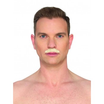 The Chevron Blond Moustache Fancy Dress Accessory