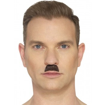 The Toothbrush Moustache Brown Fancy Dress Accessory