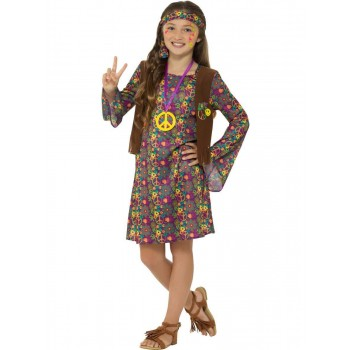 Hippie Girl Costume, with Dress Fancy Dress