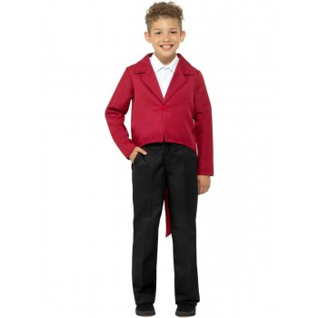 Tailcoat Red Fancy Dress Costume