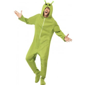 Mens Green Alien  (Fancy Dress Costume)