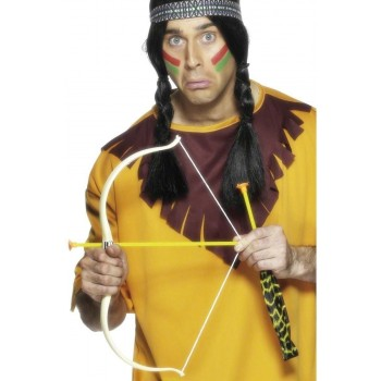 Native American Bow And Arrow Set - Fancy Dress (Cowboys/Native Americans)