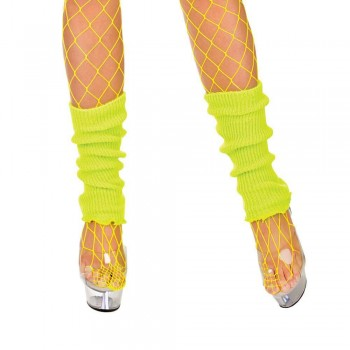 80's Leg Warmers Neon YELLOW Accessory (1980)