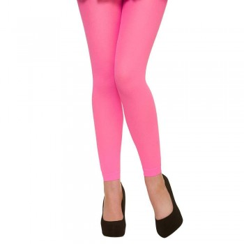 Tights - Footless / Neon Pink Tights