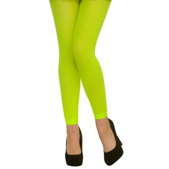 Tights - Footless / Neon Green Tights