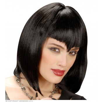 Gothic Vamp Wig Black - Fancy Dress (Halloween)