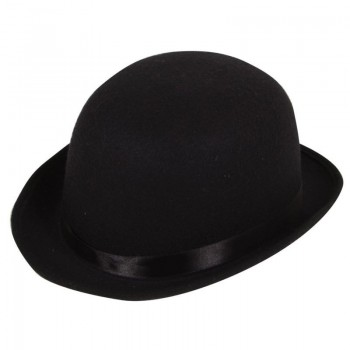 Mens Bowler Hat ( High Quality Indestructable) Hats - (Black)