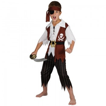 Boys Cutthroat Pirate Costume Fancy Dress (Pirates)