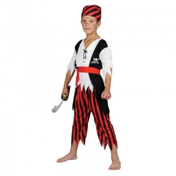 Boys Shipwreck Pirate Costume Fancy Dress (Pirates)
