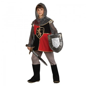 Boys Deluxe Knight Of The Realm Medieval Outfit - (Black, Red)