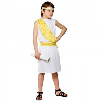 Boys Ancient Greek Boy Greek Outfit - (White)