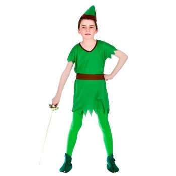 Boys Green Lost Boy/Robin Hood/Elf Fancy Dress Costume