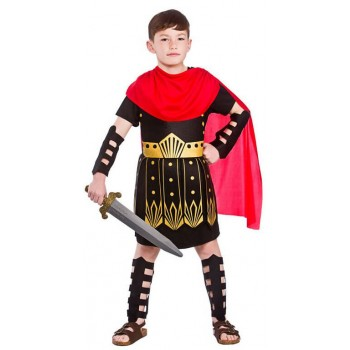 Boy'S Ancient Roman Commander Fancy Dress Costume