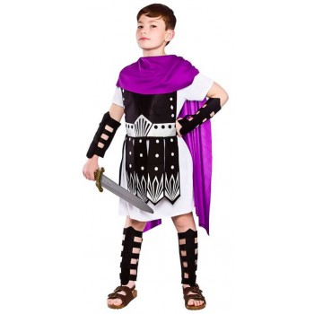 Boy's Ancient Roman Warrior Fancy Dress Costume