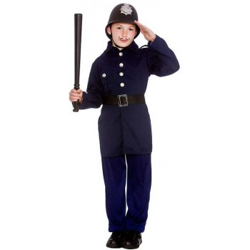 Boy'S Victorian Policeman Fancy Dress Costume