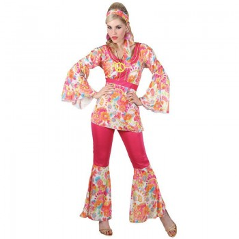 Ladies Hippie Honey Costume Fancy Dress (1960S)