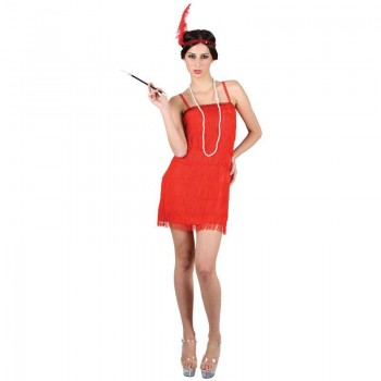Ladies Showtime Flapper Girl - Red Costume (1920S)