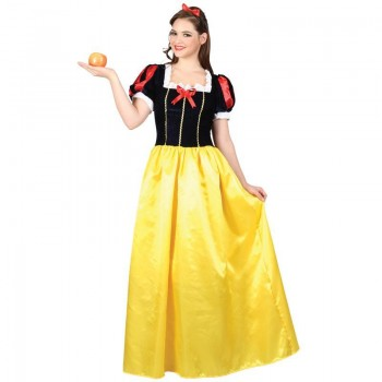 Ladies Snow Princess Fairy Tales Outfit - (Black, Yellow)
