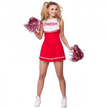 Ladies High School Cheerleader School Outfit - (Red)
