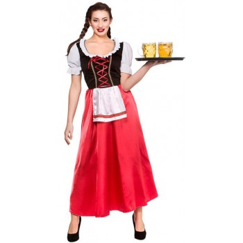 Ladies Bavarian Oktoberfest Beer Wench Fancy Dress Costume