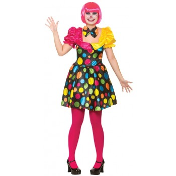 ladies Circus Clown Fancy Dress Costume