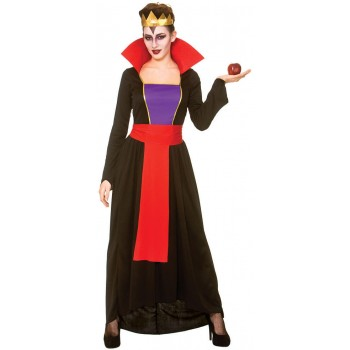 Ladies Wicked Queen Fairy Tale Fancy Dress Costume