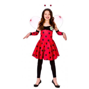 Girls Red Lovely Ladybug/Ladybird Fancy Dress Costume