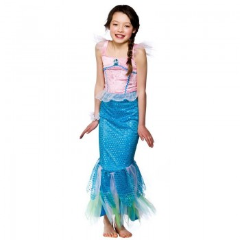 Girls Mystical Mermaid Fairy Tales Outfit - (Multicolour)