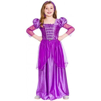 GIRLS PURPLE FANTASY SWEET PRINCESS FANCY DRESS COSTUME