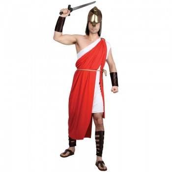 Mens Spartan Warrior Costume Fancy Dress (Roman)